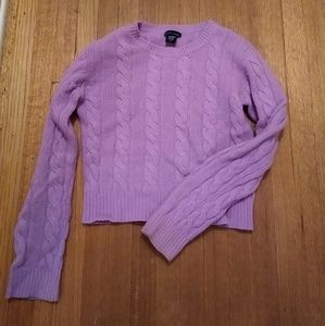 Lavender Cable Knit Sweater